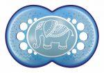 Mam 6+ Original szilikon nyugtató cumi - kék elefánt