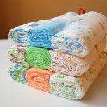 Textil pelenka (fehér,színes,mintás)