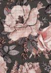 1db-os színes,mintás textil pelenka - barna nagy rózsa