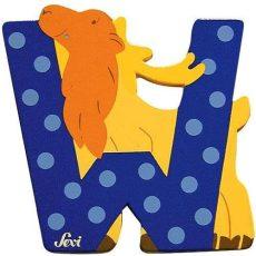 Sevi Fa betű állatos - W kék