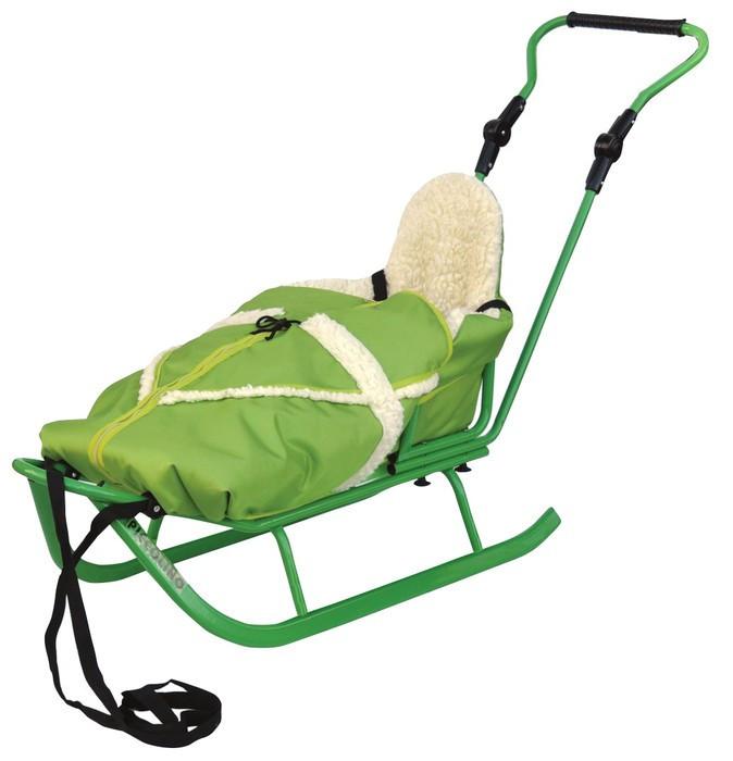 bc5c88ca2903 Adbor szánkó bundazsákkal és kupolával - zöld - Baby Shop