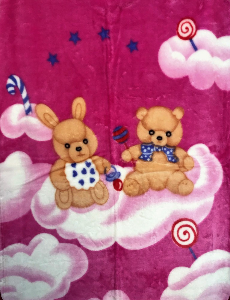 Baba pléd 80 110 cm - pink nyuszi   maci - Baby Shop 89549d6088
