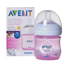 Avent Natural (innovatív,szirmos etetőcumi) 125 ml cumisüveg - Rózsaszín