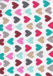 1db-os mintás pelenka - színes szívecskék