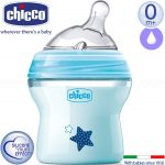 Chicco Natural Feeling cumisüveg 150ml - kék