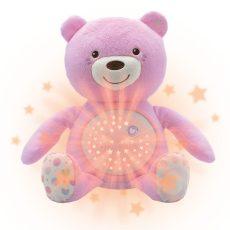 Chicco Baby Bear plüss maci projektor rózsaszín