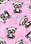 1db-os mintás textil pelenka -  rózsaszín  panda