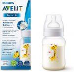 Avent Anti-colic 260 ml cumisüveg - zsiráf mintával