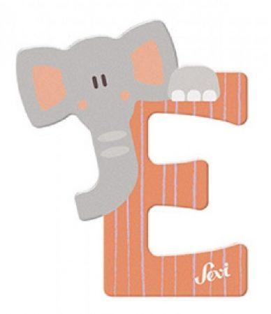 Sevi Fa betű állatos - E narancssárga