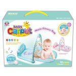 Baby fitness játszószőnyeg rugdosható zongorával hangeffektekkel kék