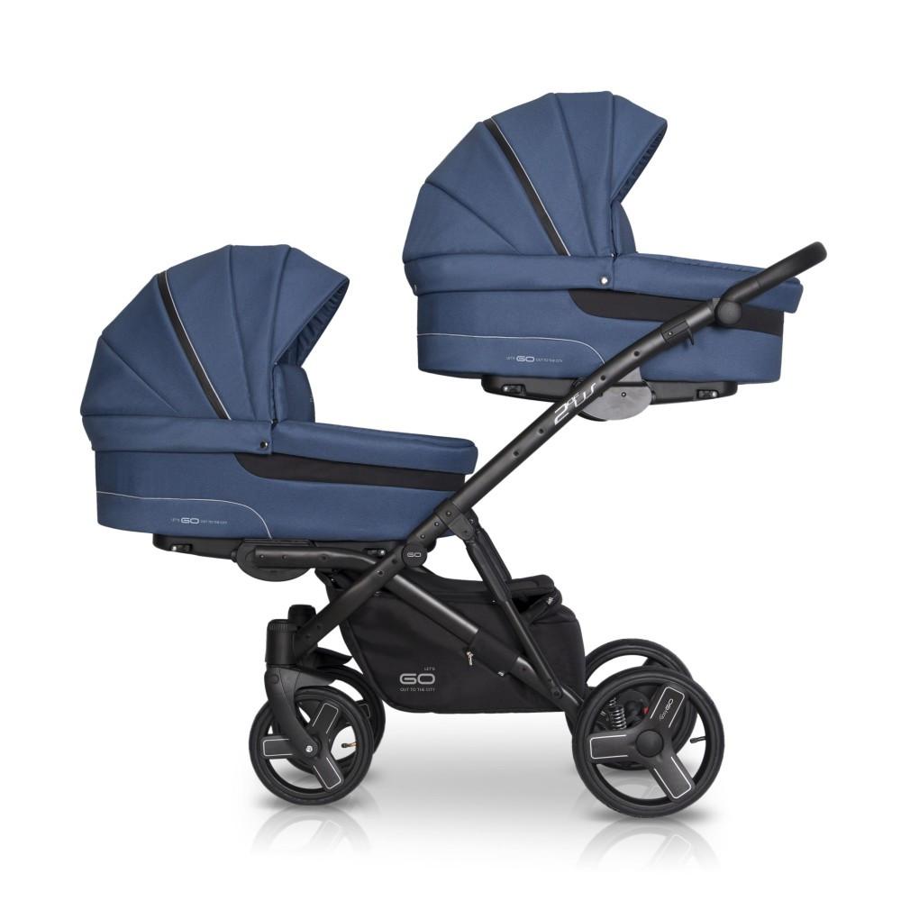 EasyGo 2ofUs 3in1 multifunkciós iker babakocsi - Denim - Baby Shop c7fda9cc45