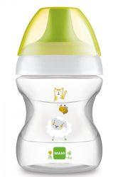 MAM Learn to drink cup - ivástanuló pohár 190 ml 6+ - sárga/zöld bárányka