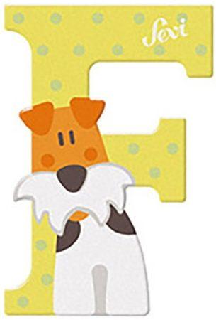 Sevi Fa betű állatos - F pasztell sárga