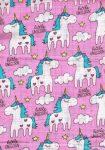 1db-os színes,mintás textil pelenka - rózsaszín little unicorn