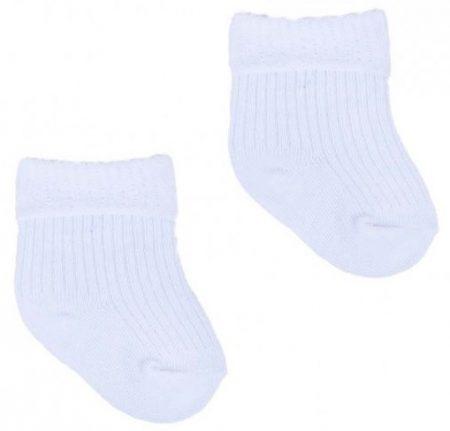 Yo! Baby pamut zokni - fehér 6-9 hó