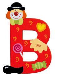Sevi Fa betű bohócos - B piros