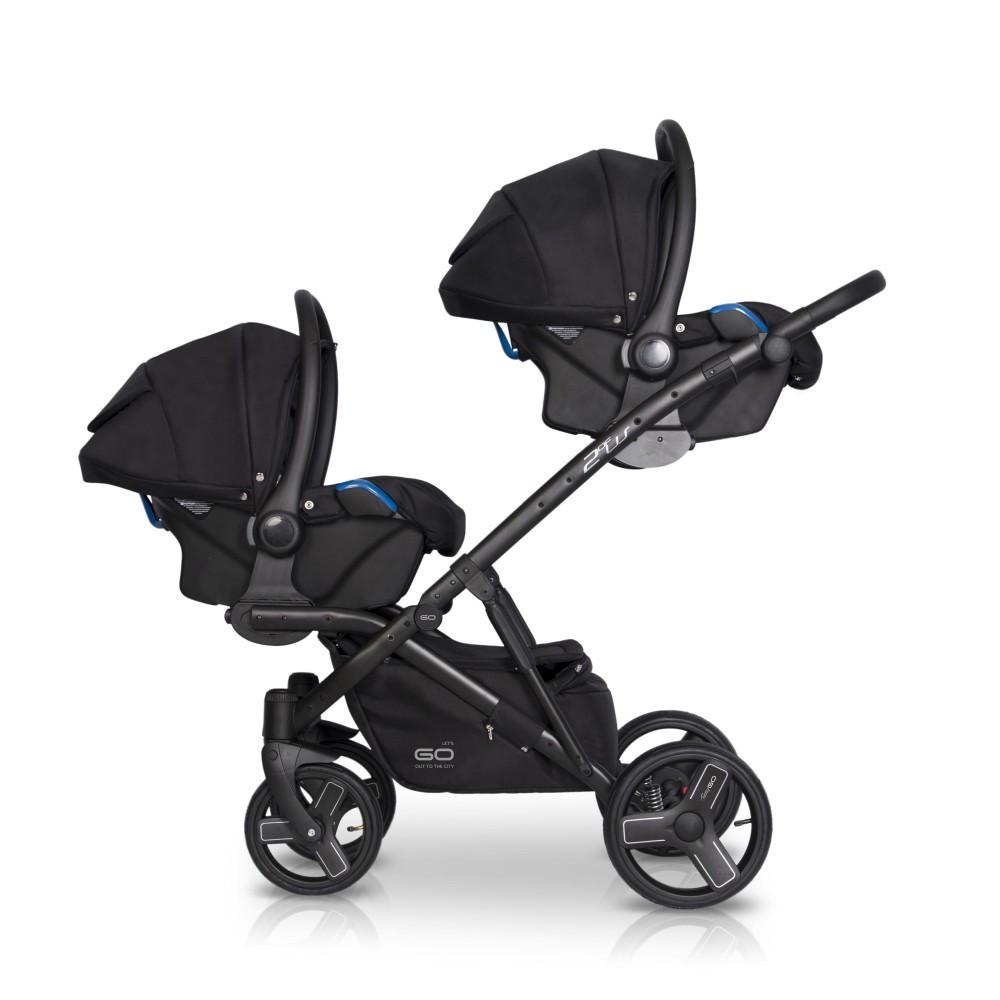 EasyGo 2ofUs 3in1 multifunkciós iker babakocsi - Grey Fox - Baby Shop 7c96930f99