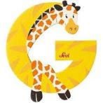 Sevi Fa betű állatos - G sárga