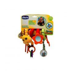 Chicco zsiráf babakocsijáték - tükörrel, csörgős labdával