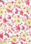 1db-os színes,mintás textil pelenka - pillangó virág