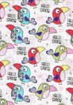 1db-os mintás textil pelenka - madárkák
