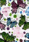 1db-os színes,mintás textil pelenka - pillangók