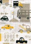 1db-os mintás textil pelenka fehér  - beep sárga