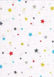 1db-os mintás pelenka - színes csillagok