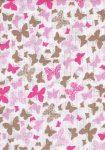 1db-os mintás pelenka - rózsaszín  pillangó