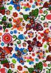 1db-os színes,mintás textil pelenka - szines pillangók