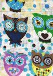 1db-os színes,mintás textil pelenka - színes baglyok