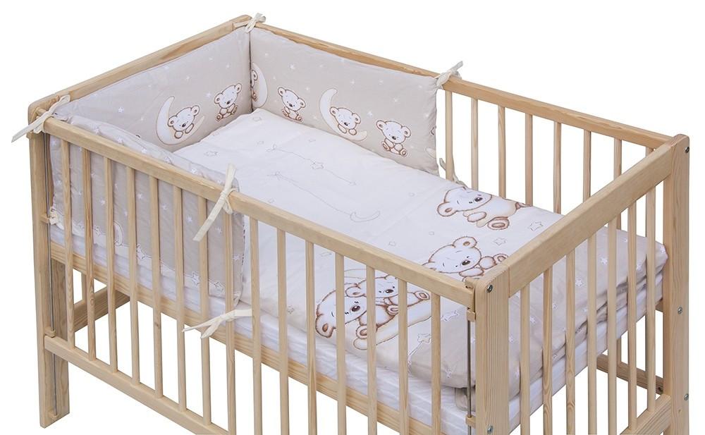 3 részes ágynemű garnitúra - bézs Holdas macik - Baby Shop ec0f8fc96f