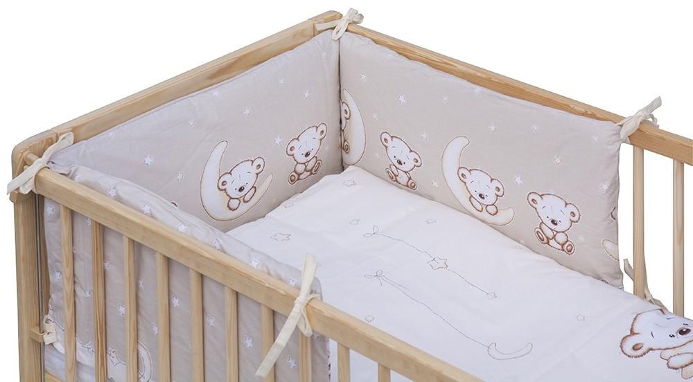 3 részes ágynemű garnitúra - bézs Holdas macik - Baby Shop 530846e16d