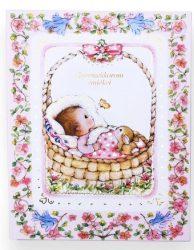 Babakönyv - rózsaszín
