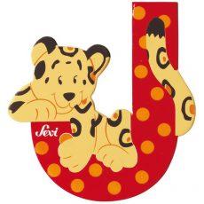 Sevi Fa betű állatos - J piros