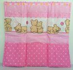 Zsebes tároló - Ölelő macik rózsaszín