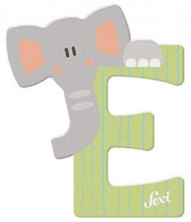 Sevi Fa betű állatos - E zöld