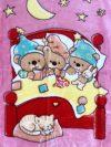 Baba pléd 80*110 cm - rózsaszín macis