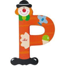 Sevi Fa betű bohócos - P piros
