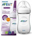 Avent Natural (innovatív,szirmos etetőcumi) 260 ml cumisüveg - fehér