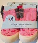 YO! Lány zoknicipő 23-as rózsaszín szívecskés