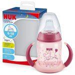 NUK 150ml First Choice Night tanulópohár 6+ rózsaszín