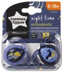 Tommee Tippee Night Time játszócumi 6-18 hó 2 db - medúza és bálna