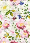 1db-os színes,mintás textil pelenka - rózsaszín virágok