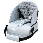 Asalvo Go Anywhere textil székmagasító utazószék háttámlás székre - Nordic Grey