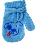 Yo! Bébi kesztyű 10 cm - Kék/kutyás