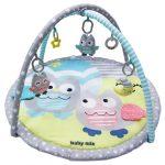 Baby Mix játszószőnyeg - rózsaszín/kék bagoly