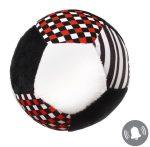 BabyOno puha labda csörgő plüssből  - érzékelésfejlesztő kollekció