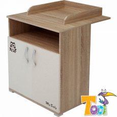 Todi Zoo 2 ajtós komód toldalék nélkül - sonoma tölgy/krém