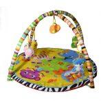 Zenélő bébi szőnyeg színes állatokkal